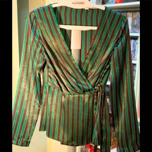 ZARA Soft touch front tie blouse (Size US- XS)